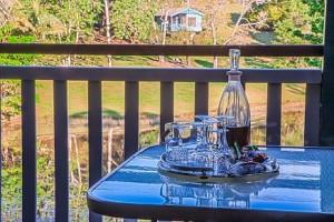 drinks on the verandah